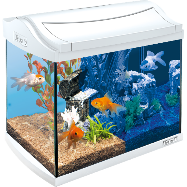 Tetra Аквариум AquaArt LED Goldfish 20 л белый - фото 1