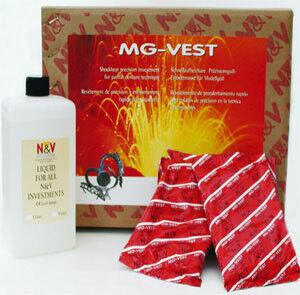 Стоматологическое оборудование Neirynck & Vogt N.V Масса скоростная паковочная для литья бюгельных протезов MG-Vest (упаковка: 45*400г+1л) - фото 1