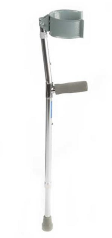 Прокат медицинских товаров Мега-Оптим Подлокотный костыль с закрытой регулируемой манжетой (детско-подростковые) LK3031 - фото 1