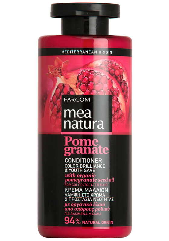 Farcom Кондиционер MEA NATURA Pomegranate с маслом граната для окрашенных волос 300 мл - фото 1