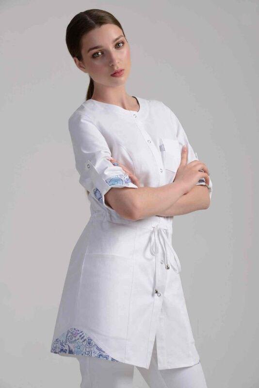 Аткарская швейная фабрика – Элит Блуза женская медицинская 21-2109 - фото 2