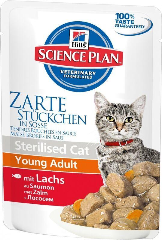 Hill's SP Feline Young Adult Sterilised Cat Salmon 85 гр. х 12 шт. - фото 2