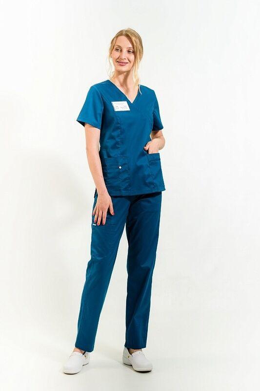 Доктор Стиль Медицинская блуза «Терра» блю опал ЛC 3229.48 - фото 2