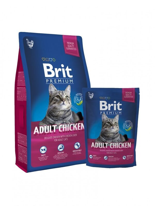 Brit Premium Cat Adult Chicken - фото 1