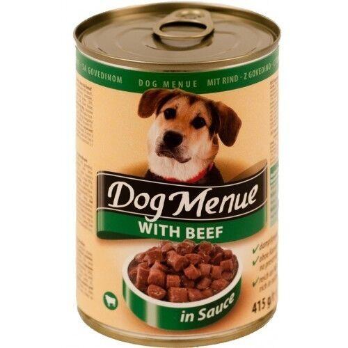 Dog Menu Влажный корм для собак с говядиной 415гр.х10шт. - фото 1