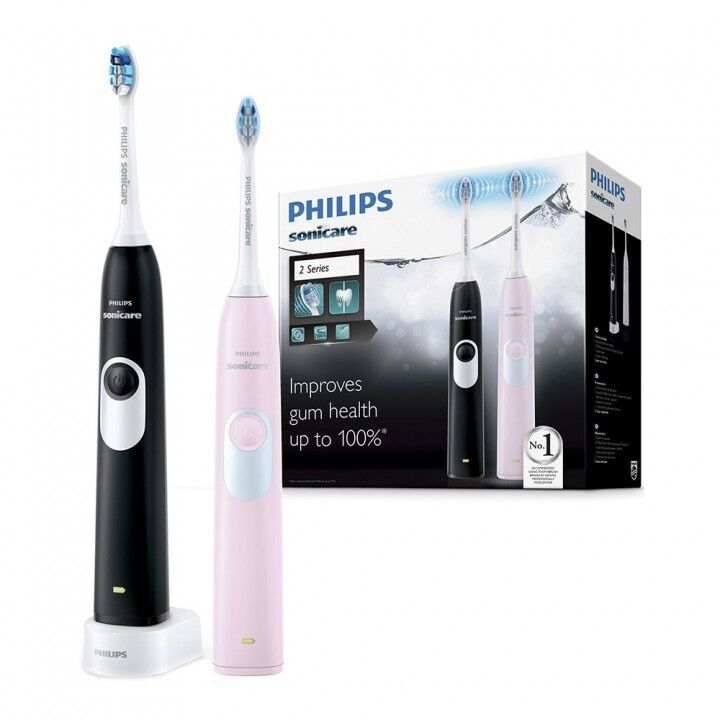Philips Электрические звуковые зубные щетки Sonicare Gum Health 2 series Pink+Black HX6232/41 - фото 1
