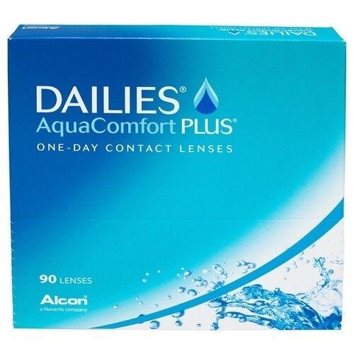 Контактные линзы Dailies (Alcon) AquaComfort PLUS (90 линз) - фото 1