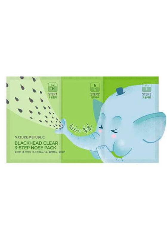Nature Republic Набор для сужения и очищения пор носа BLACKHEAD CLEAR 3-STEP NOSE PACK(7EA) - фото 1