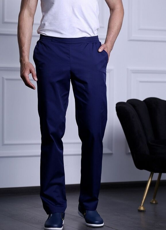 Доктор Стиль Медицинские брюки мужские «Комфорт» темно-синие Брю 3408.19 - фото 1