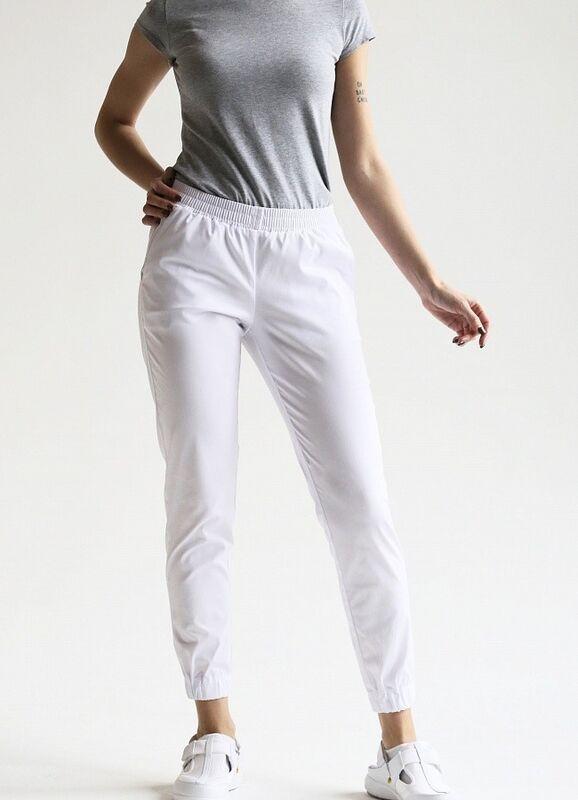 Доктор Стиль Медицинские брюки женские «Релакс» белые Брю 3403.01 - фото 3