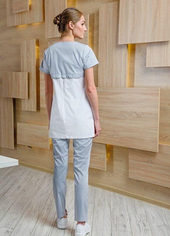 Доктор Стиль Медицинская блуза «Жемчуг» жемчужная ЛУ 1226.52 - фото 4