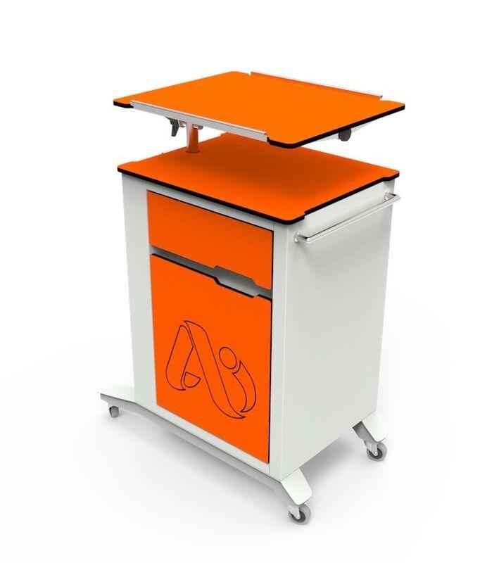 Айболит-2000 Тумба медицинская прикроватная ТМП-02.6 (обновленная версия модели) оранж - фото 1