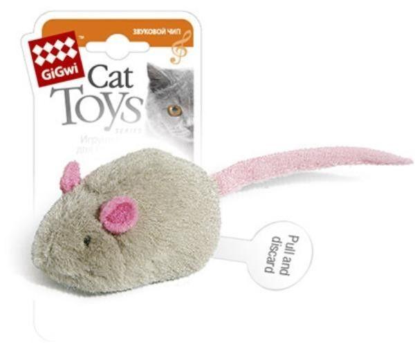 GiGwi Мышка с музыкальным чипом - фото 1