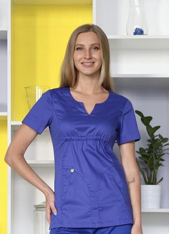 Доктор Стиль Медицинская блуза «Колибри» василек ЛЛ 2232.05 - фото 1