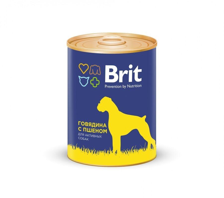 Brit Premium Beef and Millet 850гр. х 6 шт. - фото 1