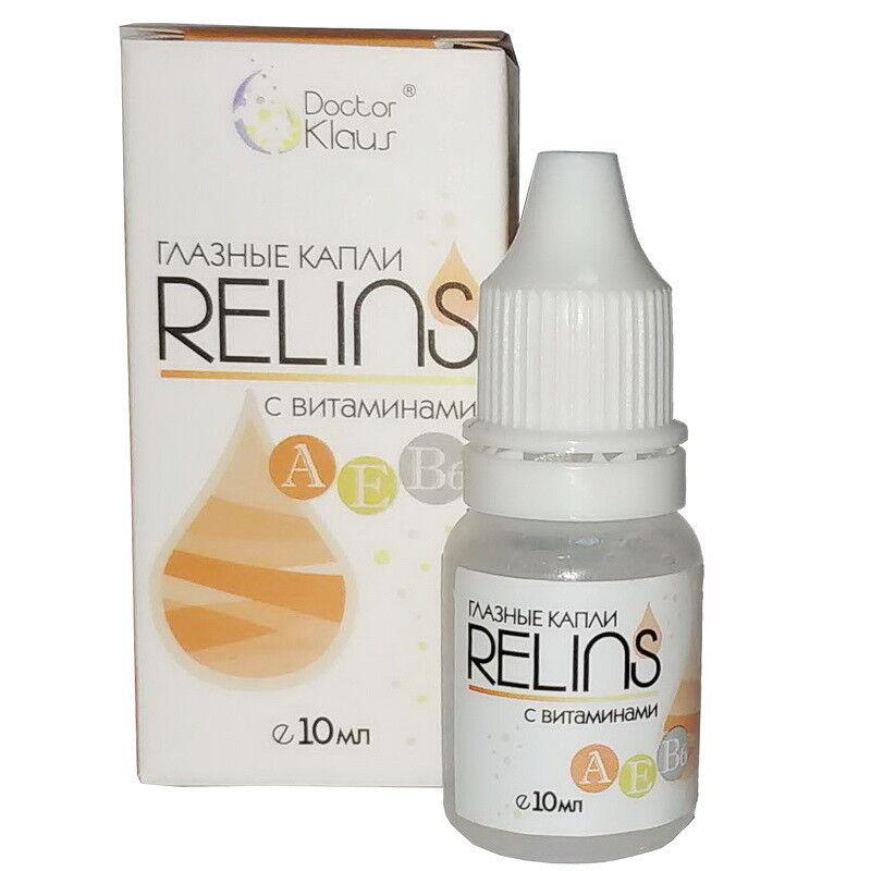 Средство по уходу и аксессуар для линз Doctor Klaus Капли Relins с витаминами 10 мл - фото 1