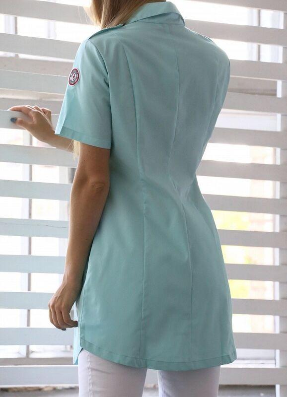Доктор Стиль Медицинская блуза «Сафари» мята ЛЛ 2229.35 - фото 4