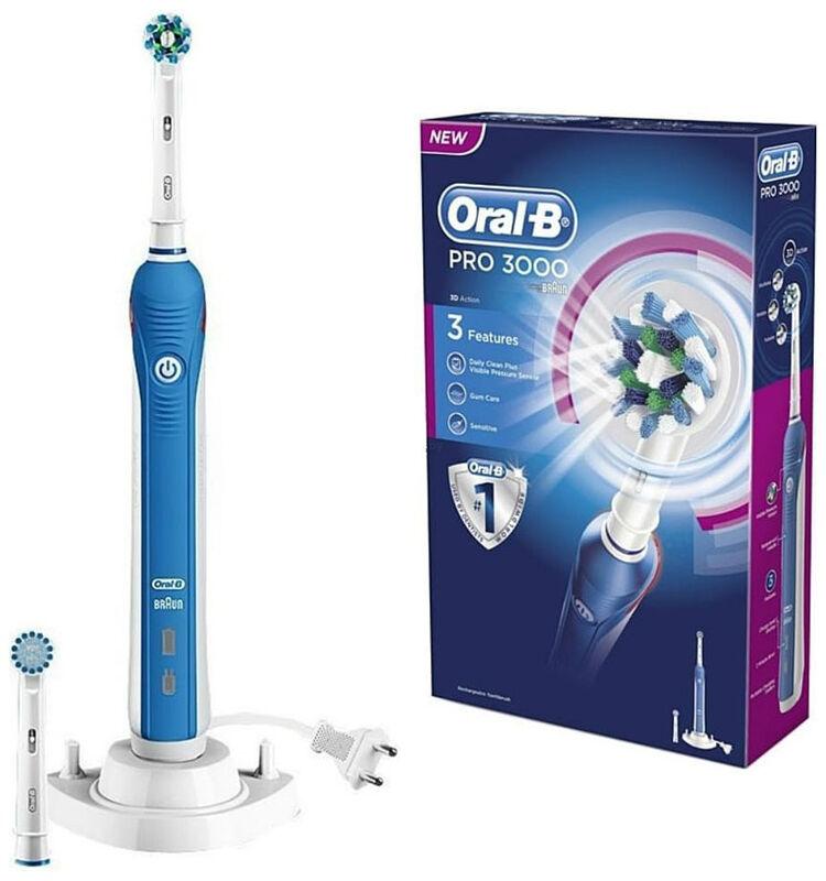 Oral-B Электрическая зубная щётка Pro 3000 D20.524.3M - фото 1