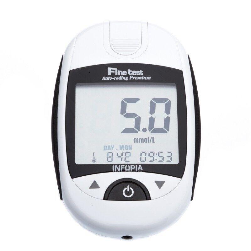 Глюкометр Finetest Глюкометр Auto-Coding Premium + 50 тест-полосок - фото 1
