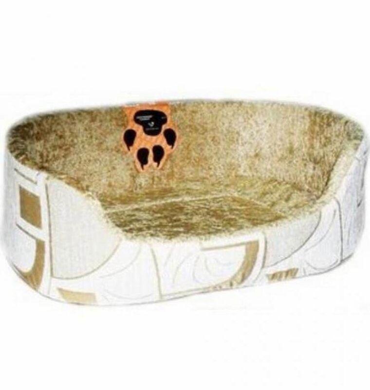 Dogman Лежак овальный для кошек и собак «Тапико» 50х56х20 см - фото 1