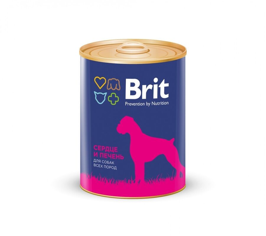 Brit Premium Heart and Liver 850гр.х6шт. - фото 1