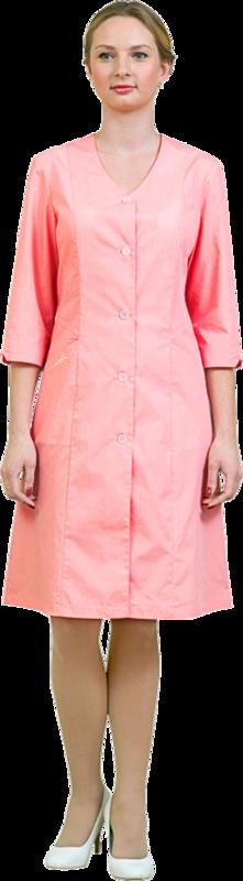 Спецобъединие Халат женский медицинский Адажио персик (хал710) - фото 1