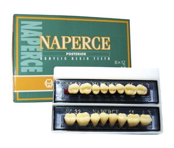 Стоматологическое оборудование Yamahachi Dental MFG Co. Акриловые двухслойные зубы жевательные Naperce pasterior (8 зубов) - фото 1