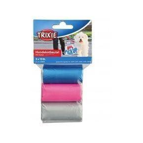 Trixie Одноразовые пакеты для уборки за собаками, с ручками, 3 рулона по 15 пакетов, M 3 рулона по 15 пакетов, M - фото 1