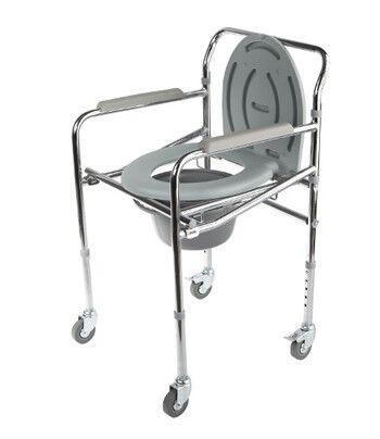 Санитарное приспособление Valentine I. LTD Кресло-туалет складной на колесах WC Mobail - фото 1