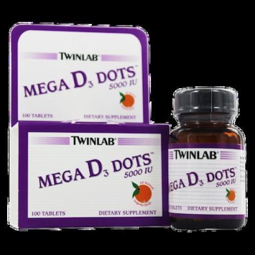 Twinlab Vitamin Mega D3 5000 IU 100 dots - фото 1