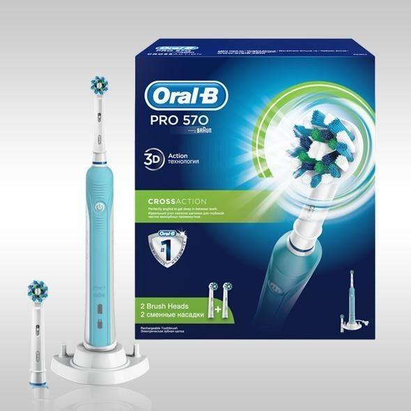 Braun Электрическая зубная щетка Oral-B Pro 570 Cross Action (D16.524U) - фото 2