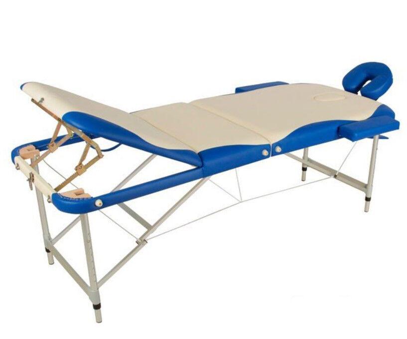 Прокат медицинских товаров Med-Mos Массажный стол складной JFAL01A трехсекционный - фото 1