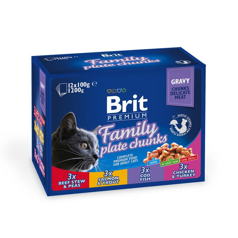 Brit Влажный корм для кошек и котов Family Plate 100 гр. х 12 шт. - фото 1