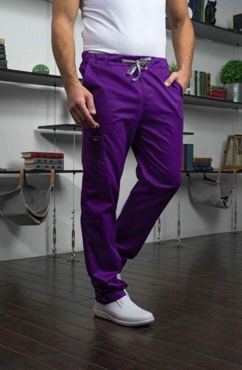 Доктор Стиль Медицинские брюки «Софт М» фиолетовые Брю 3410.15 - фото 6