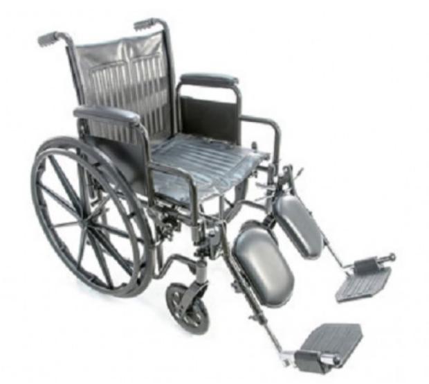 Прокат медицинских товаров Мега-Оптим Коляска инвалидная с поддержкой голени FS511B - фото 1