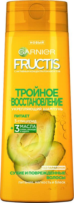Garnier Шампунь Fructis Тройное Восстановление укрепляющий 250 мл - фото 1