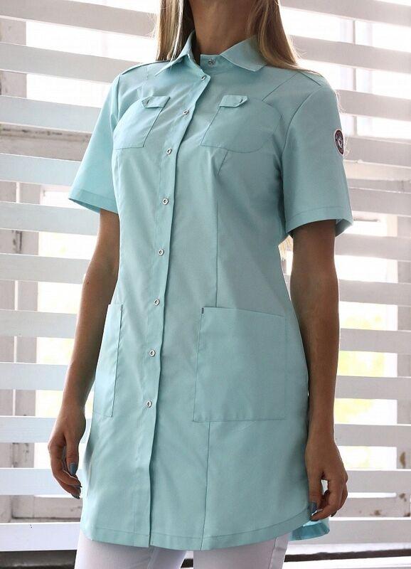 Доктор Стиль Медицинская блуза «Сафари» мята ЛЛ 2229.35 - фото 3