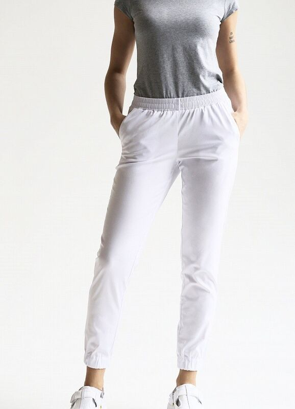 Доктор Стиль Медицинские брюки женские «Релакс» белые Брю 3403.01 - фото 2