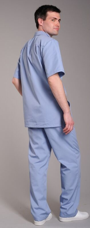 Доктор Стиль Блуза медицинская мужская Скай (лл2212) - фото 4