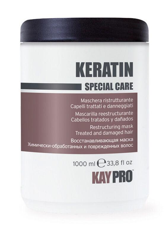 KayPro Маска CPECIAL CARE KERATIN восстанавливающая с кератином для химически-обработанных и поврежденных волос 1000 мл - фото 1