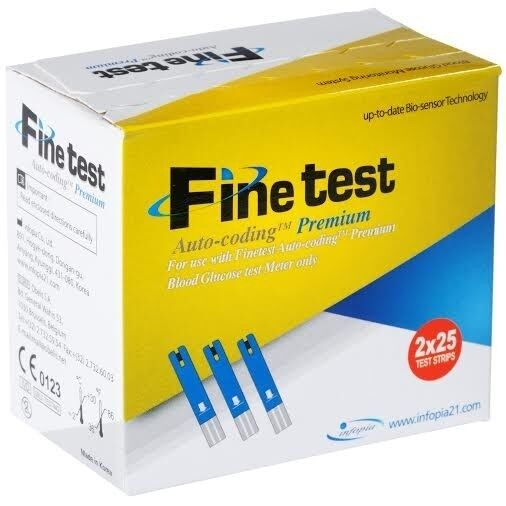 Глюкометр Finetest Тест-полоски Auto-Coding Premium 50 - фото 1