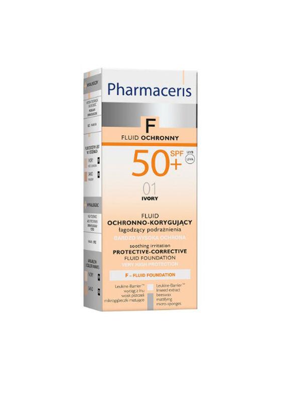 Pharmaceris Флюид тональный защитный SPF50+ (тон: 01 слоновая кость), 30 мл - фото 1