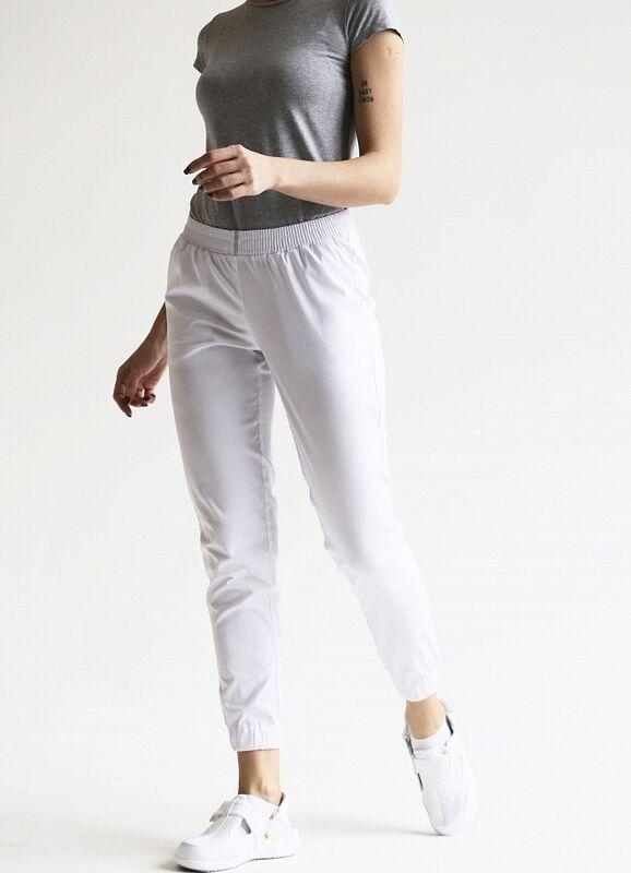 Доктор Стиль Медицинские брюки женские «Релакс» белые Брю 3403.01 - фото 4