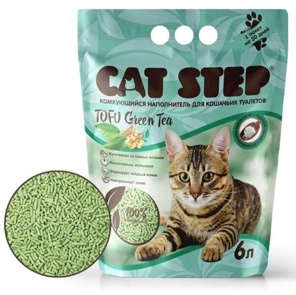 Cat Step Наполнитель Tofu Green Tea (6 л) - фото 1