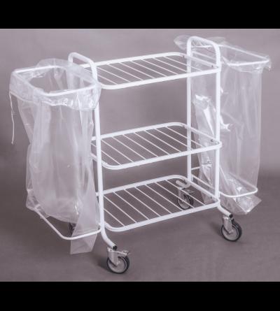 Белмедматериалы Тележка комбинированная для перевозки чистого и грязного белья ТКПБ-2П - фото 2