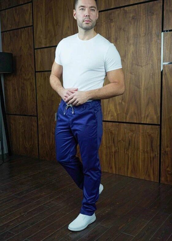 Доктор Стиль Медицинские брюки «Софт М» темно-синие Брю 3410.19 - фото 5