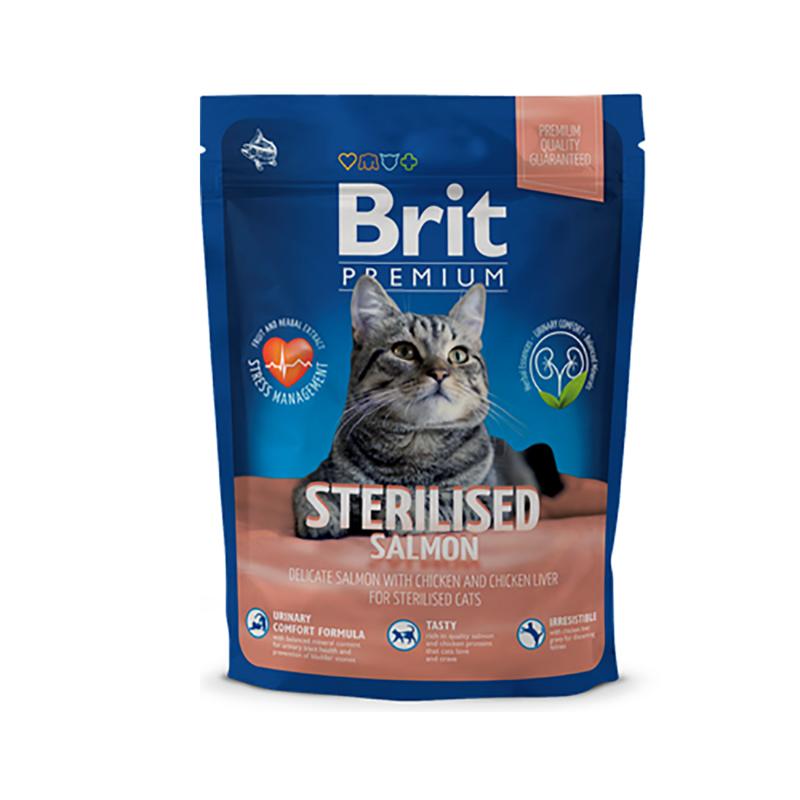 Brit Premium Cat Sterilised Salmon 1,5 кг - фото 1