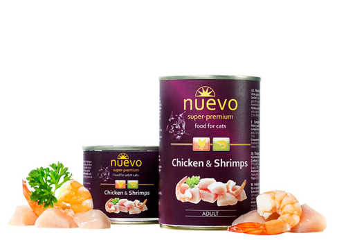 Nuevo Adult Chicken and Shrimps 200 гр. х 12 шт. - фото 1