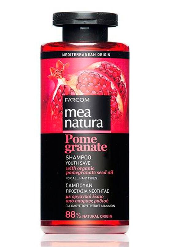 Farcom Шампунь Mea Natura Pomegranate с маслом граната для окрашенных волос 300 мл - фото 1