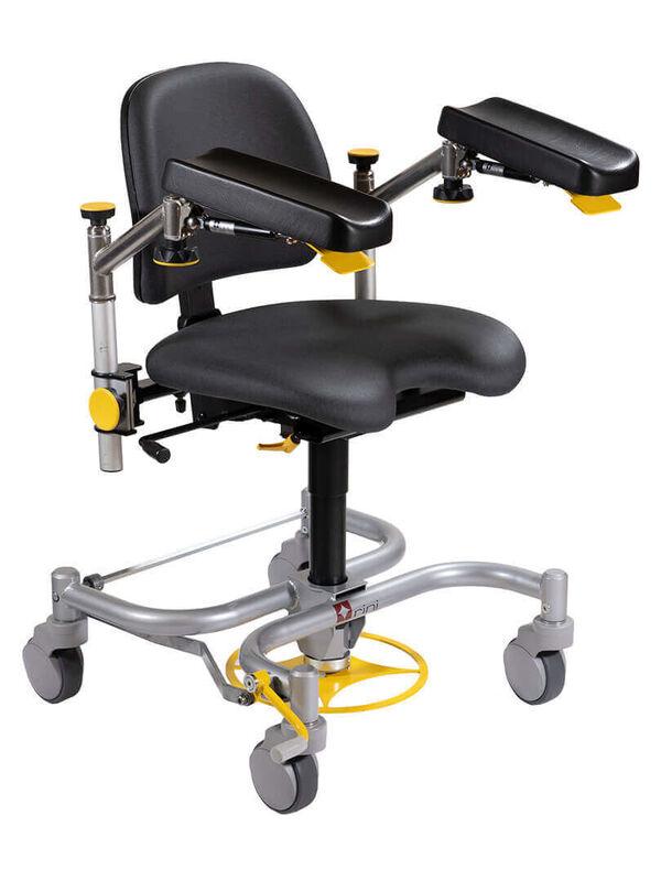 Медицинское оборудование Rini Операционное кресло хирурга Carl Spring (c тормозами H и широкой базой) - фото 1